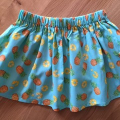 Girls Skirt - Pineapple Splash