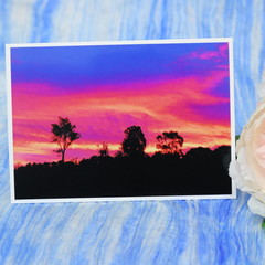 Sunset Landscape Photo on a Blank Card