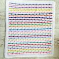 Rainbow of Colours  Newborn Hand Crocheted Bobble Baby Blanket