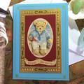 '3D Bear at the Beach' Birthday Card