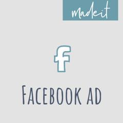 Week Beginning 7 Oct- Facebook Advert