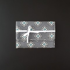 Grey Square Medallion Gift Card Purse - Free postage