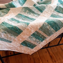 Mint Stripe Quilt