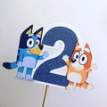 Bluey & Bingo - ABC kids - cake topper - kids party - pick age - caketopper
