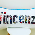 Personalised Name Pillow Cushion -slim font