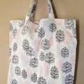 Leaf Print Reusable Shopping Tote