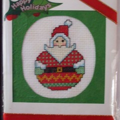 Christmas Card - Roly Poly Santa