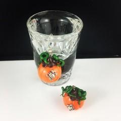 Spider Pumpkin Earrings