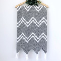 Grey Chevron Baby Blanket
