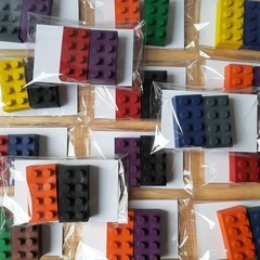 FREE POSTAGE - 15x 2 pack Lego Brick - Party Bags