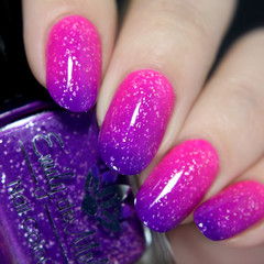 """High Contrast"" A purple ( cold ) to neon pink ( warm ) thermal"
