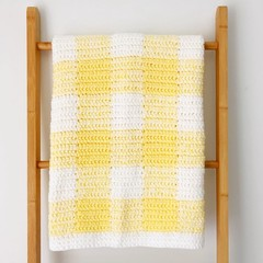 Buttercream Baby Gingham Blanket