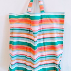 Foldable eco tote / PASTEL COLOUR - Stripe