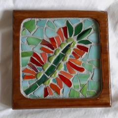 Bottlebrush Mosaic Coaster