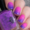 """""""High Contrast"""" A purple ( cold ) to neon pink ( warm ) thermal"""