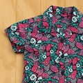 Boy's Button up Shirt - Hiding Cats - Size 2