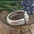 Thick Open Band SPOON RING, Sterling silver. Upcycled Silverware Jewellery.