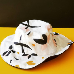 OUMU reversible bucket hat, summer hat, gift for her, teen sun hat, women's hat