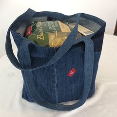 Grocery Bag UPCYCLED Denim From Jeans W47cm x L36cm Levi Label