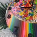 Tick Tock - Colour me Happy Buttons Resin clock - silent motion