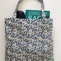 Fold up shopping tote bag – flower print