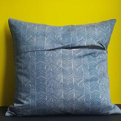 OUMU square hidden zipper cushion cover, handmade, home decor, living room acces