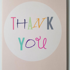 OUMU thank you card, blank card, card for thank you gifts