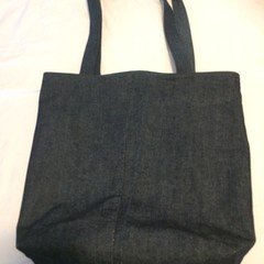 Grocery Shopping Bag UPCYCLED Denim From Jeans W44cm x L39cm