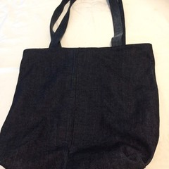 Grocery Shopping Bag UPCYCLED Denim From Jeans W44cm x L40.5cm