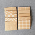 OUMU 10 x mini envelopes, kraft cardboard, tooth fairy envelopes, lunch notes en