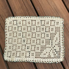 Spearmint Green Table Doily