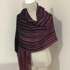 Hand woven summer shawl