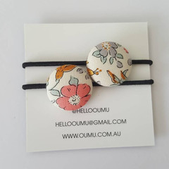 OUMU elastic hair ties, Liberty of London fabric, hair accessories, accessory, h