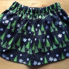 Girls Christmas Skirt - Chalkboard Christmas