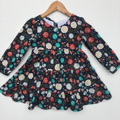Winter floral dress -  Winter dress - girls dresses - girls dress - kids dresses