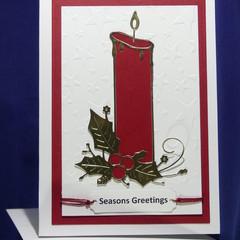 Seasons Greetings Christmas Candle