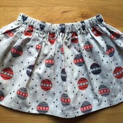 Girls Christmas Skirt - Baubles