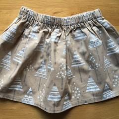 Girls Christmas Skirt - Glitter Trees