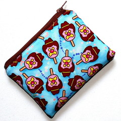 Small Coin Purse in Colourful Bubble O Bill Fabric - Small scale print