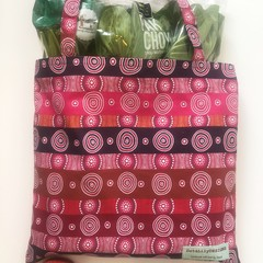 Fold up shopping tote bag – desert flowers