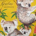 Vintage Retro Australian KOALAS Cushion Cover