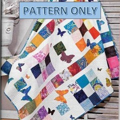 PDF Digital Pattern Bed Quilt, applique butterflies, easy design