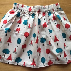 Girls Skirt - Little Red