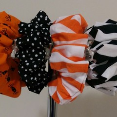 Hair Scrunchies -Halloween Bundle