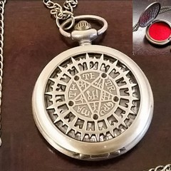 Wiccan Necklace, Goth Necklace, Sigil of Baphomet Sigil Of Satan, Pill Case