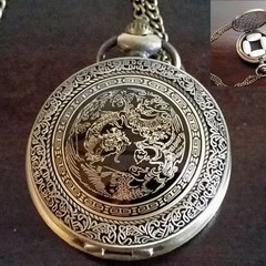 Dragon Necklace Gift, Dragon Pendant With Felt Lining and Chain, Metal Pill Case