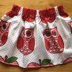 Girls Skirt - Owls