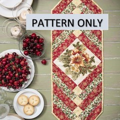 PDF Digital Pattern French Braid Quilt as you Go Christmas Table Runner