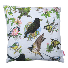 Vintage Retro British Birds Cushion Cover