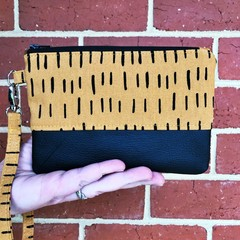 Strike That  - Regular Wristlet with leather accent
